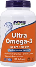 Now Foods Ultra Omega3 500 EPA/250 DHA 180 Softgels
