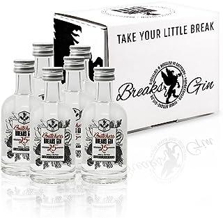Breaks Butchers Gin 25 - Ausgezeichneter Gin mit 25 Botanicals - Kräftig - Fruchtig - Handmade - 6 x 50 ML