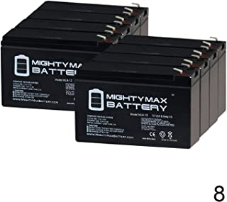Mighty Max Battery 12V 9Ah PowerWare PWHR1234W2FR Replacement UPS Battery - 8 Pack Brand Product