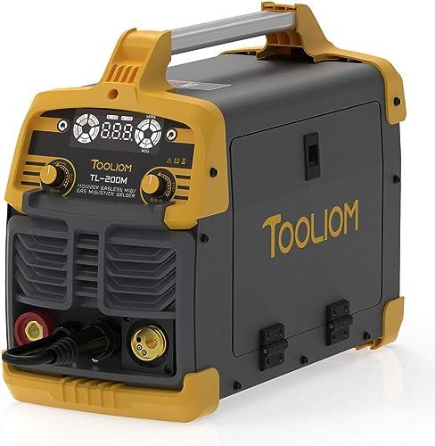 wholesale TOOLIOM 200A MIG Welder 3 in 1 Flux MIG / Solid online sale Wire / Lift discount TIG / Stick Welder 110 / 220V Dual Voltage Welding Machine online