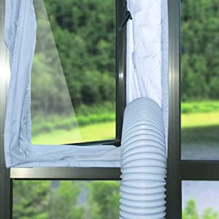 Forestchill Window Seal for Portable Air Conditioner, Screen Air Block with Adhesive Fastener, Flexible Fit, Universal Design (400CM)