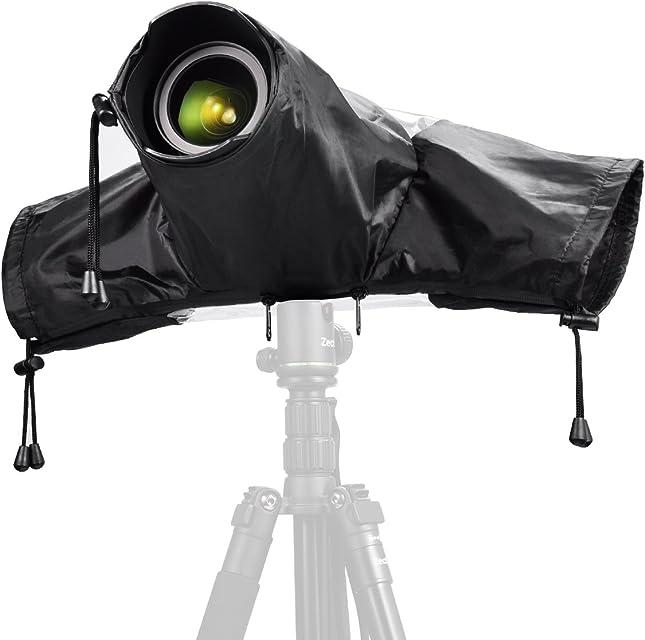 Protector Antilluvia para Cámaras - Zecti Cubierta de Lluvia Capa Protector para Cámaras DSLR Funda Impermeable para Proteger cámaras réflex de la Lluvia para Canon Nikon Sony