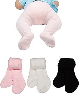 Baby Toddler Girls Tights 3-5 Pack Knit Cotton Leggings Pants for Infant Girl Stockings