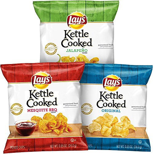Lay's Kettle Cooked Potato Chips Variety Pack, 40 Pack - $12.11