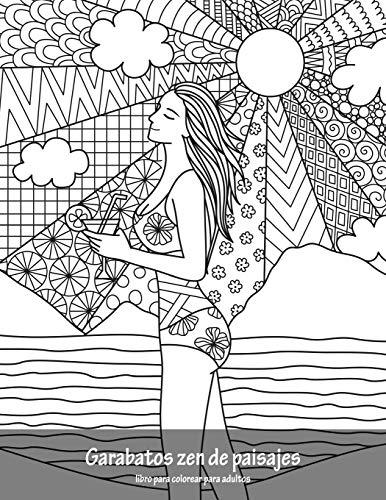 Garabatos zen de paisajes libro para colorear para adultos 1: Volume 1