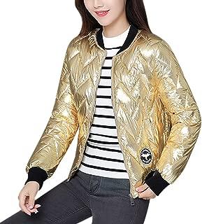 RONSHIN MeterMall Women Short Type Stand Collar Slim Fit Winter Warm Coat Zipper Closure Tops