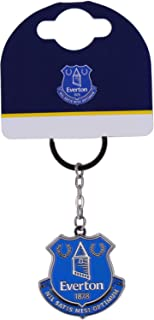 Everton Fc Official Crest Keyring Metal Keychain