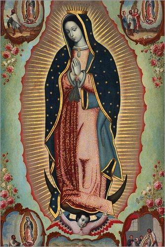 Posterlounge Cuadro de metacrilato 20 x 30 cm: Virgin of Guadalupe de Nicolas Enriquez/Bridgeman Images