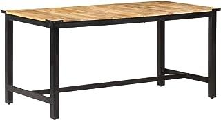Tidyard Table de Salle à Manger Industrielle 160x80x76 cm Bois de Manguier Solide