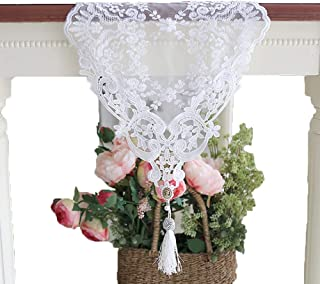 Lace Table Runner 11.8 x 27.6 Inch White Classy for Rustic Boho Wedding Bridal Shower Party Decorations, Rose Vintage Embr...