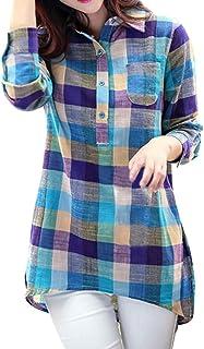 Amazon.es: Cuadros Escoceses - Rojo / Blusas y camisas ...
