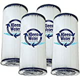 WPCFF975, FM-BB-10-20, ECP20-BB, W20CPHD, FXHSC AND WHKF-WHPLBB Alternative 20 Micron Water Filter Replacement Cartridge Qty(4) by KleenWater