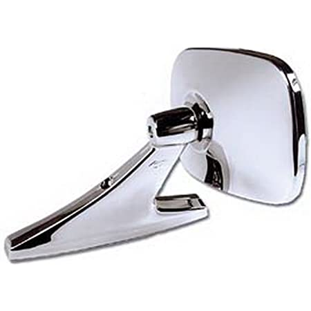 For Classic Car Hot Rod Truck 1 Pack KNS Accessories KC3003 Rectangle Straight Arm Universal Clamp on Door Peep Mirror Fits Driver and Passenger side