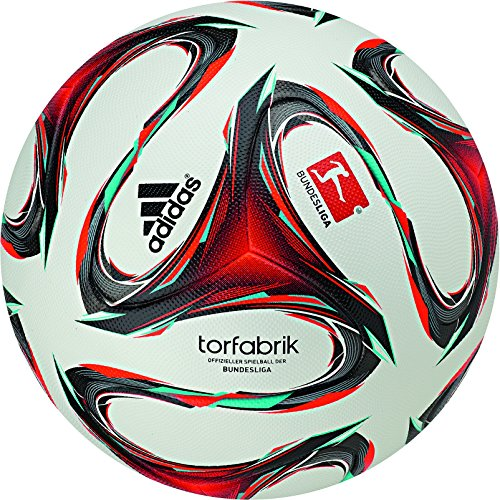 adidas offizieller spelball der fußball-Bundesliga Deutschland, weiß/rot/minzgrün, 5, F93564