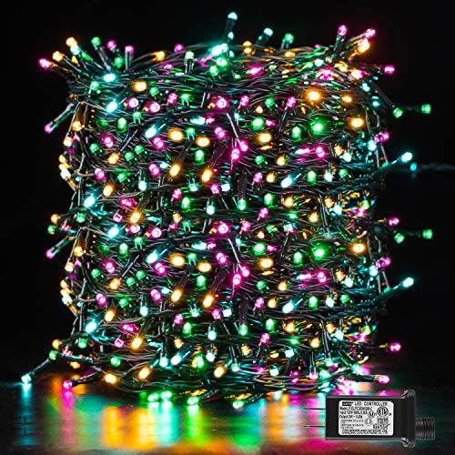 Christmas Lights Multicolor, Novtech Christmas Fairy Lights, Xmas Tree Lights Plug in 8 Modes, Twinkle Christmas Decorative Lights for Indoor Outdoor Xmas Tree Garden Party Decor(Multicolor,1000Leds)