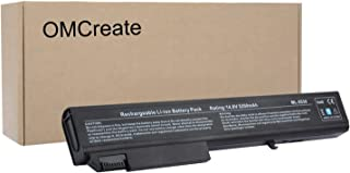 OMCreate Battery Compatible with HP EliteBook 8530P 8540P 8530W 8540W 8730W 8740W / HP ProBook 6545B, fits P/N KU533AA 493976-001 - 12 Months Warranty [Li-ion 8-Cell]