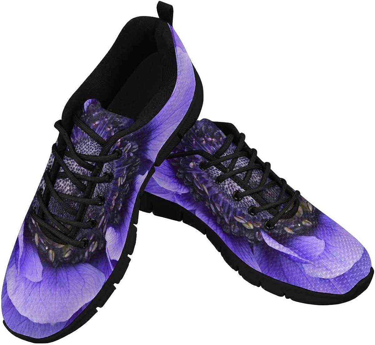INTERESTPRINT Violet Flowers Women's Tennis Running Shoes Lightweight Sneakers