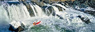 Kayaker descending waterfall Great Falls Potomac River Montgomery County Maryland USA Poster Print by Panoramic Images (18 x 6)