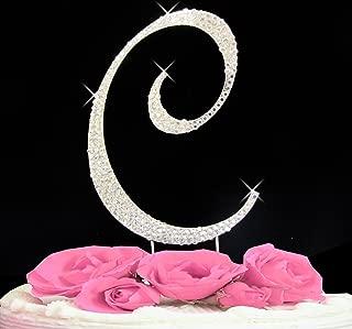 Letter C - Swarovski Crystal Monogram Wedding Cake Topper Letter