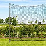 Stop That Ball System [5 Sizes] | Freestanding Ball Stop Netting for Backyard | Soccer Ball Stopping Net System - Behind Goal Soccer Net | Soccer Rebounder (05. 50ft Wide)