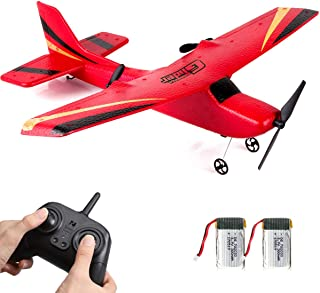 HAWK'S WORK 2 CH RC Airplane, RC Plane Ready to Fly, 2.4GHz Remote Control Airplane, Easy to Fly RC Glider for Kids & Begi...
