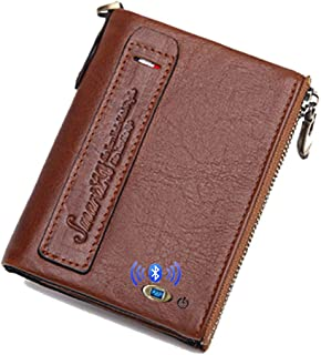Smart LB Anti-Lost Bluetooth Leather Traveler Wallet with Alarm, Position Record (via Phone GPS), Bifold Multi Card Case W... photo