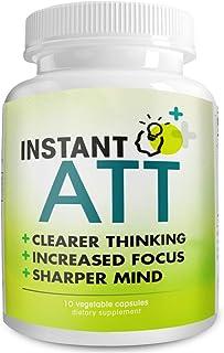 InstantATT - Complete All-Natural Pure Brain, Focus, Memory Supplement (10 Capsules)