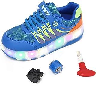 MNVOA Scarpe Roller per Bambini Unisex Doppie Ruote Scarpe da Skateboard Scarpe da Skate Roller da Allenamento per Sport allAria Aperta per Ragazze