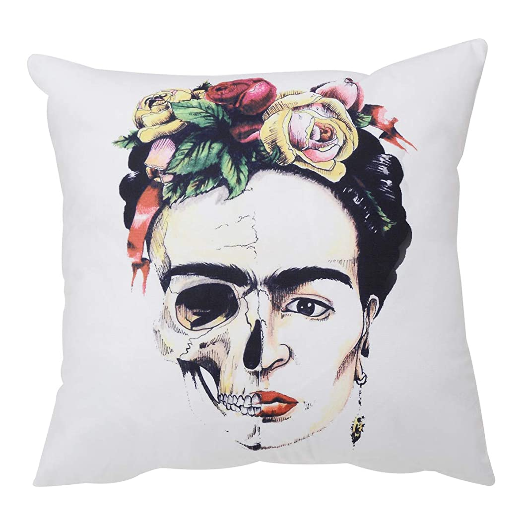 Lvpai Frida Kahlo Throw Pillow Covers Cases Sofa Couch Home Decor Cotton Blend 18 x 18 inch (PC087)