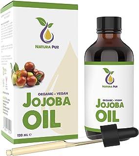 Jojoba Olie Puur 120ml - 100% biologisch, koudgeperst, veganistisch - Jojoba Oil antiaging en antirimpel serum voor gezich...