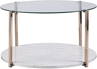 Bentley Round Coffee Table Antique Silver See Below Madison Park Signature MPS120-0051