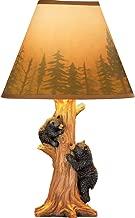 Rustic Climbing Bear Family Northwoods Lamp,14 3/4