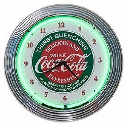 コカ・コーラ ネオン クロック レトロ 壁掛時計 [並行輸入品]