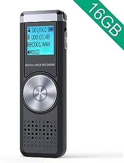 JOOMFEEN 16GB大容量 ボイスレコーダー 録音機 icレコーダー 録音レコーダー 長時間録音 小型軽量 電池切れ自動保存 usb充電式