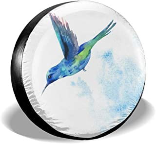 All agree Spare Tire Cover Watercolor Hummingbird Bird Vintage Universal Car Rear Tire Covers RV Wheel Cover Tires Protectors for Camper, Trailer, SUV, Truck, Boat, Motorhome, Waterproof