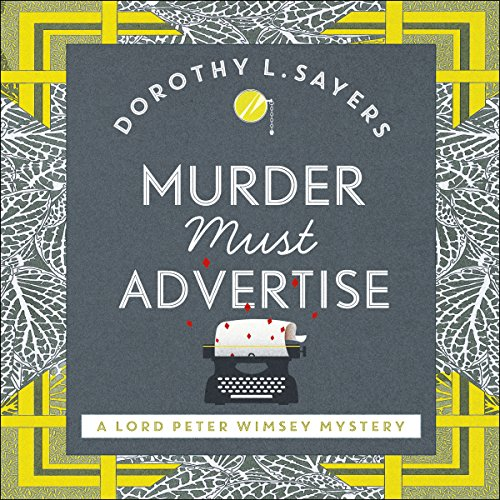 Murder Must Advertise audiobook cover art