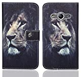 FoneExpert® Samsung Galaxy Xcover 3 Handy Tasche, Wallet Hülle Flip Cover Hüllen Etui Ledertasche Lederhülle Premium Schutzhülle für Samsung Galaxy Xcover 3 (Pattern 4)