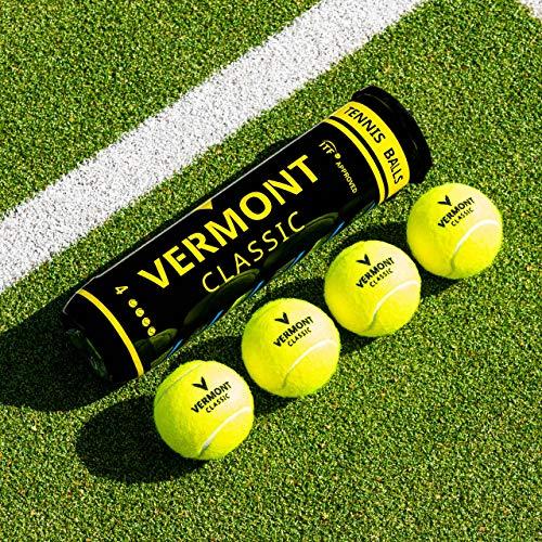 Vermont Classic Tour Tennis Balls ITF Approved Woven Cloth Tennis Ball 3 Tubes 12 Balls