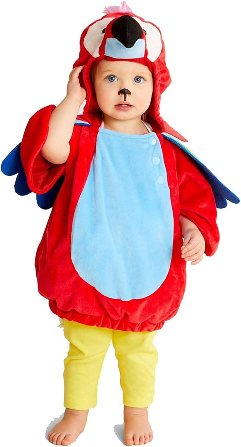 Baby Toddler Unisex Animal Themed Plush Hooded Pull Over with Attached Animal Spirit Hood