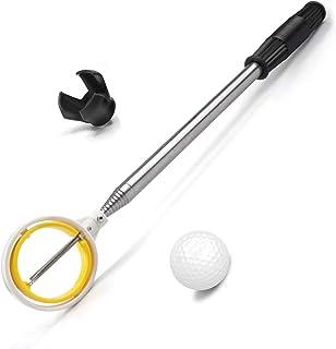 بازیابی توپ گلف prowithlin ، تلسکوپی ضد زنگ قابل بازیافت توپ گلف برای آب و توپ انتخابی گلف ابزار جمع کننده چنگ زدن به گلف ، لوازم جانبی گلف هدیه گلف برای مردان