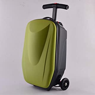 YUMILI Creative Scooter Multifunction Trolley Personalized Trolley Suitcase 20 Inches Portable Boarding (Color : E, Size : 20inches)