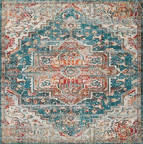 Luxe Weavers Blue 8x10 Oriental Area Rug