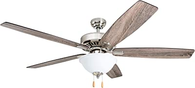 Prominence Home 51053-01 Garford Ceiling Fan, 60, Brushed Nickel