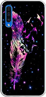Case Compatible with Samsung Galaxy A50 Back Cover for Girls Cute Slim Stylish Colorful Star Prints Pattern Flexible Soft TPU Silicone Clear Bumper Protective Case for Apple Samsung Galaxy A50