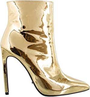 Tony Bianco Freddie Womens Boots - High Shine Pointed Boot with Hidden Platform and Square Stiletto Heel
