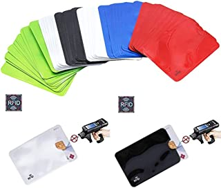 (60 Pack) Holographic RFID Blocking Sleeves, Card Holder Blocking Bank Anti Thief Wallet Protect Case Credit Cards Case Sa...