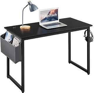 Yaheetech Bureau Informatique Table Ordinateur Table d'étude Industriel, Sac de Rangement, Crochet à Gauche ou à Droit, œi...