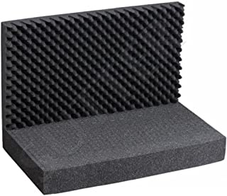 Almohadilla de espuma con dados ajustables, parte superior e inferior (3piezas), dimensiones de 43x 33cm, para maletín de aluminio, de pistolas y armas