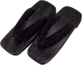 CRB Fashion Mens Womens Japanese Traditional Kimono Wooden Clogs Slippers Sandals