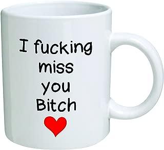 Funny Mug - I F miss you bitch, red heart - 11 OZ Coffee Mugs - Funny Inspirational and sarcasm - By A Mug To Keep TM